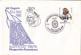 GAGARIN First SPACE Cosmonaut - 1981  DDR /  Germany Post Card - RARE !!! - Europa