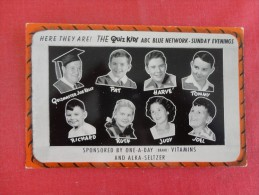 One A Day Vitamins  & Alka Seltzer  The Quiz Kids    -----ref 1791--- - Publicidad