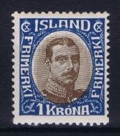 Iceland: 1920 Mi Nr 96, Fa 142  MNH/** Postfrisch - 1918-1944 Administration Autonome