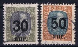 Iceland: 1925 Mi Nr 112 - 113  Used - Oblitérés