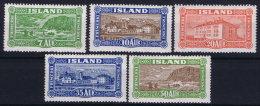 Iceland: 1926 Mi Nr 114 - 118 MH/*  Fa 168 - 172 - 1918-1944 Administration Autonome