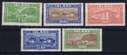 Iceland: 1926 Mi Nr 114 - 118 MNH/** Postfrisch RRR   Fa 168 - 172 - 1918-1944 Administration Autonome