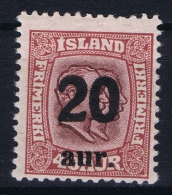 Iceland: 1921 Mi Nr 109  MNH/** Postfrisch    Fa 106 - 1918-1944 Autonoom Bestuur