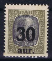 Iceland: 1925 Mi Nr 112  MNH/** Postfrisch    Fa 101 - 1918-1944 Administration Autonome