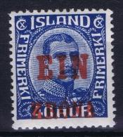 Iceland: 1926 Mi Nr 121  MH/*   Fa 159 - 1918-1944 Administration Autonome