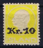 Iceland: 1924 Mi Nr 111  MNH/**   Fa 123 - 1918-1944 Administration Autonome