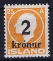 Iceland: 1925 Mi Nr 119  MNH/**  Postfrisch  Fa 121 - 1918-1944 Administration Autonome