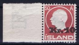 Iceland: 1925 Mi Nr 120  MNH/**  Postfrisch  Fa 122  Sheetmargin RR - 1918-1944 Autonoom Bestuur
