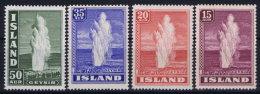 Iceland: 1938 Mi Nr 193 - 196 MNH/** - 1918-1944 Autonoom Bestuur