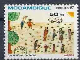 1987 MOZAMBIQUE 1058** Sant�, vaccination