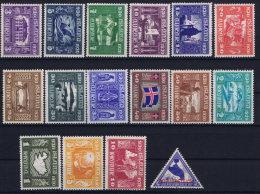 Iceland: 1930 Mi Nr 125 - 140 MNH/** Postfrisch   Fa 173 - 188 - 1918-1944 Administration Autonome