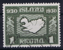 Iceland: 1930 Mi Nr 136 Used  Fa 184 - Oblitérés