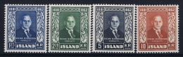 Iceland: 1952 Mi Nr 281 - 284  MNH/** - 1944-... Republique
