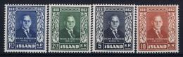 Iceland: 1952 Mi Nr 281 - 284  MNH/** - 1944-... Republik
