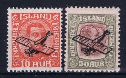 Iceland: Airmail Mi Nr 122 - 123  MH/* Fa 160 - 161 - Poste Aérienne