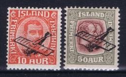 Iceland: Airmail Mi Nr 122 - 123  MH/* Fa 160 - 161 - Airmail
