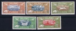 Iceland: Airmail Mi Nr 142 - 146  MNH/** Fa 189 - 193 1930 - Airmail