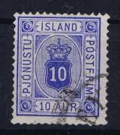 Iceland: Service Mi Nr 5 Ab  Used   Perfo 14 : 13,50 Ultramarin - Dienstzegels