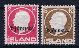Iceland: Service Mi Nr 41 - 42  MNH/** Fa 53 - 54 - Service