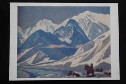"ROERICH Russian Painter ""Kaluta "" OLD Postcard  1987  - Himalaya - Tibet - Peintures & Tableaux"