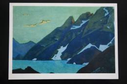 "ROERICH Russian Painter ""Nague Lake"" OLD Postcard  1974  - Himalaya - Tibet - Peintures & Tableaux"