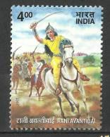 INDIA, 2001,  Rani Avantibai, (Queen Of Ramgarh, Martyr),   MNH, (**) - Nuevos