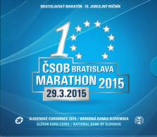 SLOWAKIJE - BU SET 2015 - 10 JAAR MARATHON VAN BRATISLAVA - Slovaquie