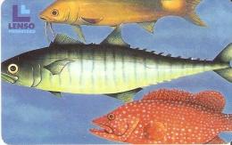 TARJETA DE TAILANDIA DE UNOS PECES  (FISH-PEZ) LENSO - Tailandia