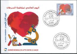 ALGERIA NEW  2015 International Year To Fight Cancer FDC - Medicine - Algeria (1962-...)