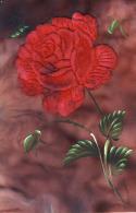Heureux Anniversaire  Très Belle Cpa Cellulo Ajoutis Fleur Rose Tissus Velouté - Dreh- Und Zugkarten