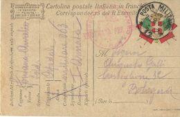FRANCHIGIA POSTA MILITARE 12 1917 OSPEDALE CAMPO 063 SCHIO X BOLOGNA - 1900-44 Vittorio Emanuele III