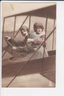 CPA COUPLE AVIATION AVIATEUR MONTAGE 1915 ? - Coppie