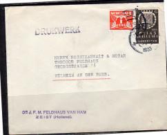 Buitenplaats Veelzigt Dr. J.F.M. Feldhaus Zeist To Theodor Feldhaus Mülheim An Der Ruhr (ac19) - Periode 1891-1948 (Wilhelmina)