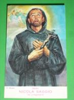 Beato NICOLA SAGGIO Da LONGOBARDI Cosenza Calabria - Regola Di S.Francesco Da Paola - Dipinto C.Musio  - Santino - Images Religieuses