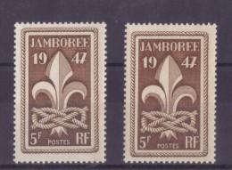 VARIETE DE COULEUR N *787 (brun Foncé Et Brun Rouge ) NEUF** - Curiosities: 1945-49 Mint/hinged