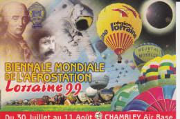CPM CHAMBLEY AIR BASE BIENNALE MONDIALE DE L AEROSTATION LORRAINE 1999 MONGOLFIERES - Fesselballons