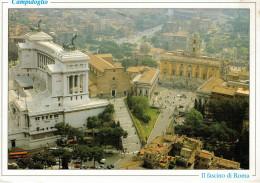ROMA  CAMPIDOGLIO  VEDUTA  AEREA        MAXI-CARD    (VIAGGIATA) - Other Monuments & Buildings