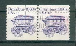 Collection ETATS-UNIS ; U.S.A. ; 1983 ; Y&T N° 1492 ; Lot : Paire ; Oblitéré ; - Usati
