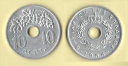 Grecia 10 Lepta 1954  Uva - Grecia