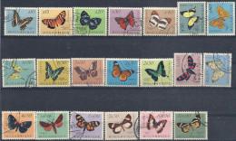 1953 MOZAMBIQUE 419-38 oblit�r�s, papillons, s�rie compl�te
