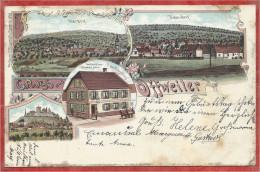 67 - GRUSS Aus OFFWEILER - OFFWILLER - Litho Couleur Multivues - Gasthaus Zum Goldeden Stern - Lichtenberg - France