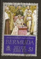 Bermudes Bermuda 1977 Visit Queen Elizabeth Obl - Bermudes