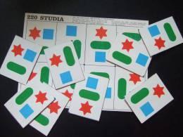Maternelle / Ancien Carton De Jeux Avec Images / JEU DE POSITIONS 3 ELEMENTS / STUDIA 220 - Jeux De Société