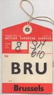 Etiquette De Bagage Aviation. British European Airways. - Baggage Etiketten
