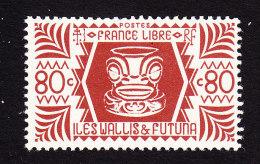 Wallis And Futuna, Scott #132, Mint Hinged, Ivi Poo, Bone Carving, Issued 1944 - Neufs
