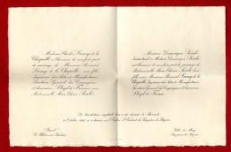 FAIRE PART DE MARIAGE FAMILLE LAMY & SOULE  -  LE PALAIS SUR VIENNE & BAGNERES DE BIGORRE 1925 - Faire-part