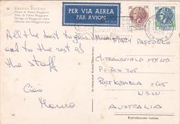Italy 1979 Used Postcard, Coin 100 Lire And 120 Lire Sent To Australia - 6. 1946-.. Republic