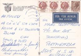 Italy 1979 Used Postcard, Coin 100 Lire Strip 3, 20 Lire Sent To Australia - 6. 1946-.. Republic