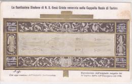 CARD RICORDO DELL'OSTENSIONE SS.SINDONE SUDARIO SAINT SUAIRE VOLTO DI GESU'TORINO MAGGIO 1931 2 SCANNER-2-0882-23578-579 - Images Religieuses