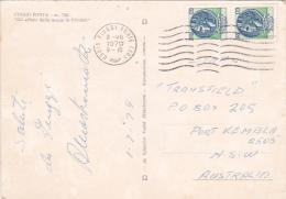Italy 1979 Used Postcard, Coin 120 Lire Pair Sent To Australia - 6. 1946-.. Republic